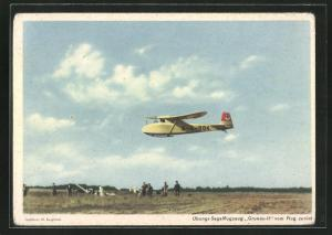 AK Übungs-Segelflugzeug Grunau II vom Flug zurück,