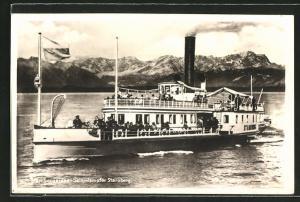 AK Salondampfer Starnberg auf dem Starnberger See