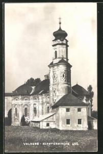 AK Volders, Blick zur Klosterkirche