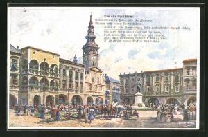 AK Neutitschein, -Platz, Das alte Sprüchlein: 99 Juden und ein Zigeuner...