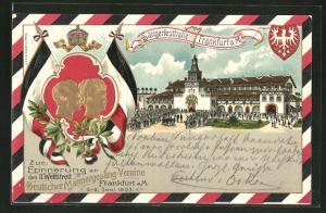 Präge-Lithographie Frankfurt a. M., Erinnerung an den II. Wettstreit Deutsch. Männergesang-Vereine 1903, Sängerfesthalle