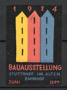 Reklamemarke Stuttgart, Bauausstellung 1924, Messelogo Haus