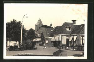 AK Grouw, Boerewal, Strassenpartie im Dorf
