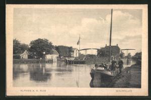 AK Alphen a. d. Rijn, Gouwsluis, Kanalpartie