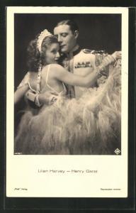AK Schauspieler Lilian Harvey und Henry Garat in einer gemeinsamen Rolle