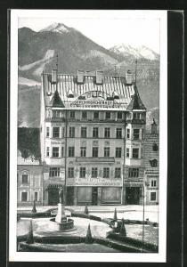 AK Mariazell, Teilansicht mit Hotel Rohrbacherhof am  Platz