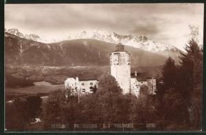 AK Volders, Blick auf Schloss Friedberg