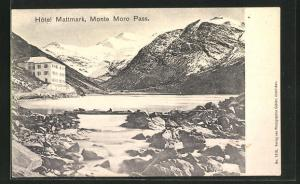AK Monte Moro Pass, Partie am Hotel Mattmark