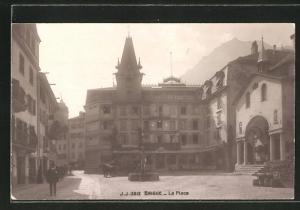 AK Brigue, La Place, Hotel Couronne et Poste