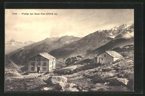 AK Plattje, Haus auf Berg