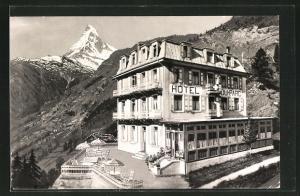 AK Zermatt, Hotel du Parc, Geschw. Aufdenblatten