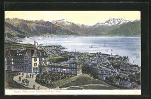 AK Mont Pelerin, Velvey, Hotel des Alpes