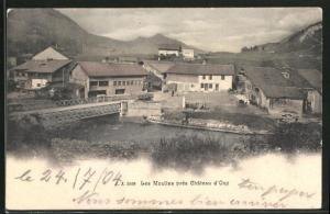 AK Château d`Oex, Les Moulins, Partie an den Mühlen