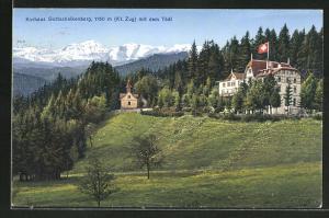 AK Gottschalkenberg, Hotel Kurhaus Gottschalkenberg mit Blick auf den Tödi
