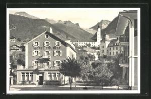 AK Brig, Ortspartie mit Hotel Tourist
