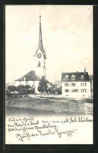 AK Wald, Blick zur Kirche