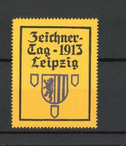 Reklamemarke Leipzig, Zeichnertag 1913, Wappen
