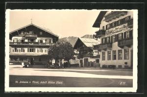 AK St. Johann,  Platz mit Post & Telegraphenamt