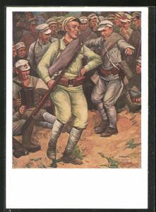 AK Soldaten der UDSSR beim Tanzen