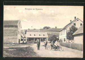 AK Krnjak, Männer auf motorisiertem Dreirad