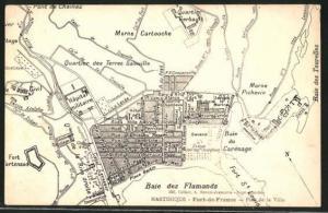 AK Baie des Flamands, Stadtplan mit Umgebung