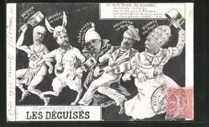 AK Carnaval 1905 - Les Déguises, Karikatur französischer Politiker
