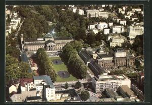AK Wiesbaden, Blick auf das Kurhaus aus der Vogelschau