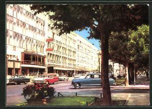 AK Wiesbaden, Partie an der Wilhelmstrasse mit Autos