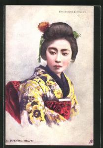 Künstler-AK Japanische Schönheit, A Japanese Beauty