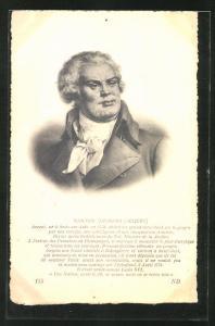 AK Portrait Georges-Jacques Danton, 1759-1794, französische Revolution
