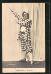 AK Henry Krauss dans Paillasse, Komiker, Clown