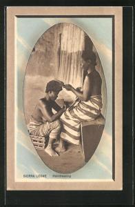 AK Sierra Leone, Hairdressing, Friseurin