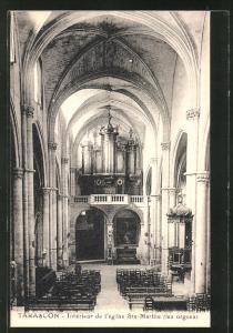 AK Tarascon, Intèrieur de l` eglise St. Marthe, Orgel