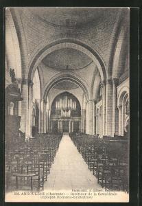 AK Angouleme, Intèrieur de la Cathèdrale, Orgel
