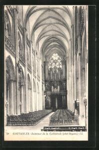 AK Coutances, Intèrieur de la Cathèdrale, Orgel