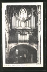 AK St-Pos-de-Leon, Interieur de la Basilique Buffet d`Orgue