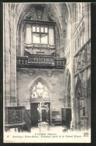 AK L`Epine, Basilique Notre-Dame, Transept nord et le Grand Orgue