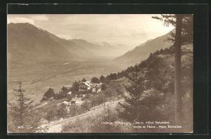 AK Chemin s/ Martigny, Hotel Belvedere, Vallee du Rhone, aLpes Bernoises