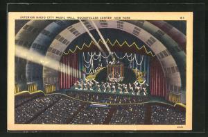 AK New York, NY, Interior Radio City Music Hall, Rockefeller Center