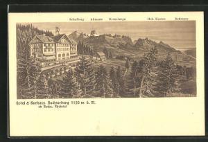 AK Buchs / Rheintal, Blick auf das Hotel & Kurhaus Buchserberg