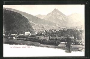 AK Au im Bregenzerwald, Ortspartie im Gebirge
