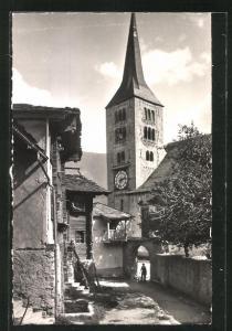 AK Naters, Blick zur Kirche