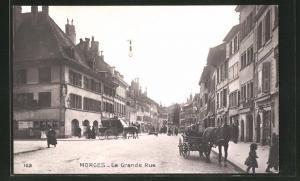 AK Morges, La Grande Rue