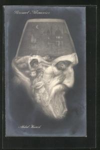 AK Pleasant Memories, Abdul Hamid der Türkei, Gesicht aus Haremsdamen