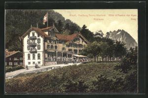 AK Reuti-Hasliberg / Berner Oberland, Hotel et Pension des Alpes mit Ritzlihorn und Ewig