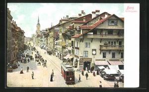 AK Bern, Spitalgasse mit Strassenbahn