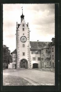 AK Diessenhofen, Strassenpartie am Siegelturm