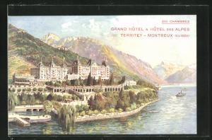 AK Territet-Montreux, Grand Hotel & Hotel des Alpes