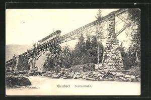 AK Giessbach, Drahtseilbahn auf der Brücke