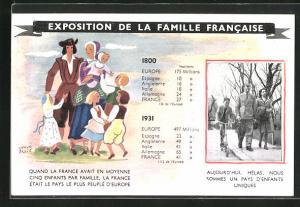 Künstler-AK Hervé Baille: Exposition de la Famille Francaise, 1800 - 1931, Ausstellung